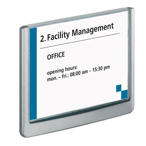 plaque de porte de bureau durable plaque de porte click sign format a6 paysage