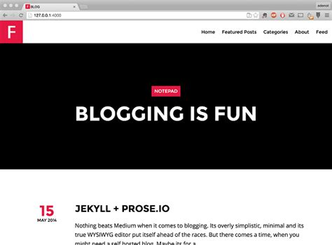 github pages templates blogging like a dev jekyll github prose io allan denot