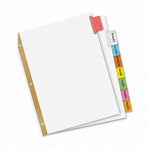 avery wi2138 worksaver big insertable tab index dividers 8 With avery 3 tab dividers