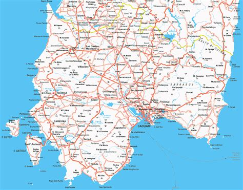 Cagliari Map