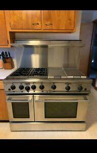 ge monogram    dual fuel stove range grill