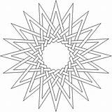 Coloring Complex Pages Adult Geometric Printable Lds Flower Pattern Printables Star Thesunflowerpages sketch template