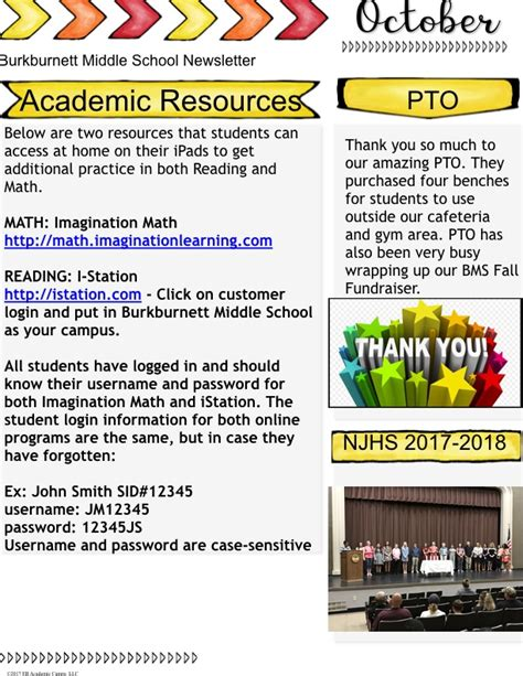 bms october newsletter