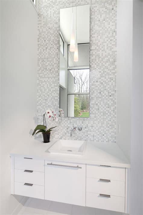 powder room mirror powder room contemporary with bathroom narrow mirror with white tile floor powder room