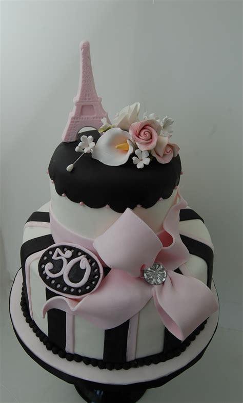 Paris Themed 50th Birthday Cake Cakecentralcom