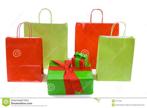 shopping bags and christmas gifts stock photo image 6177230