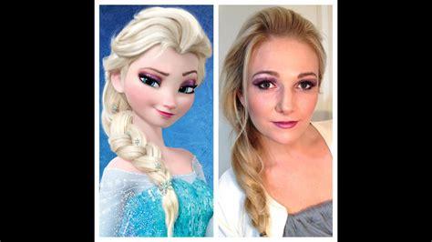 disneys frozen elsa makeup tutorial youtube