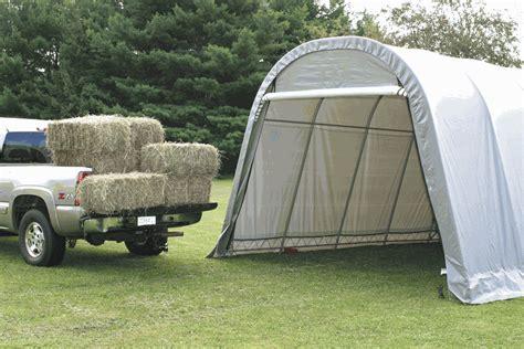 shelterlogic       portable garage canopy grey