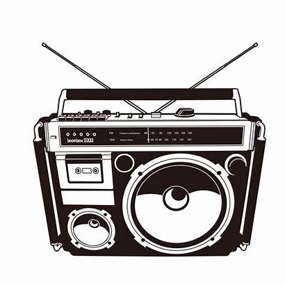 Clipart Cassette Tape Boombox Radio Silhouette Transparent