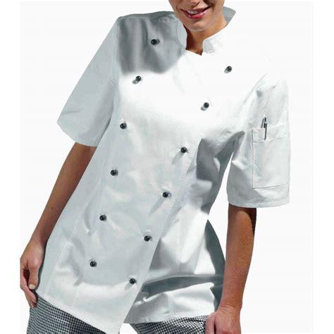 veste de cuisine manche courte veste de cuisine femme manches courtes cintrée coton sergé