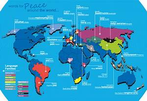 This Infographic Shows A Selection Of Translations For Peace In Other Languages  And Traces
