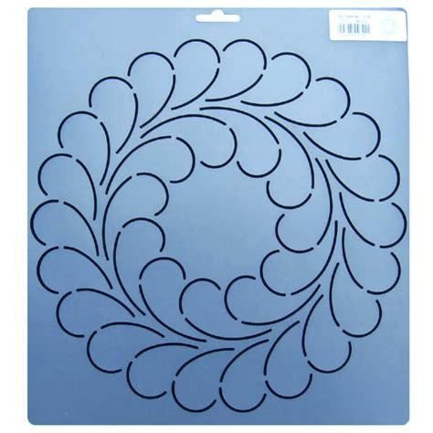 quilting templates 342 10 5 inch diameter feather circle block quilt stencil