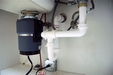 kitchen drain  installed  garbage disposal