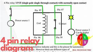 4 Pin Relay Diagram  4 Pin Relay Wiring  4 Pin Relay