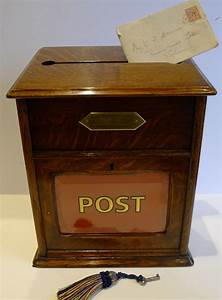 antique english oak country house post of letter box c With antique letter box