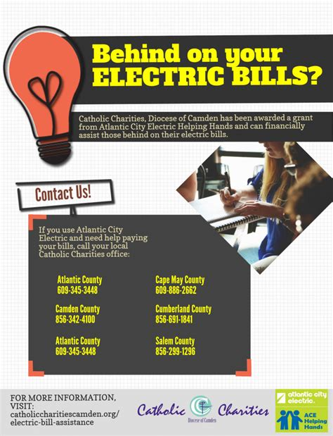 light bill assistance electric bill assistance atlantic city electric helping