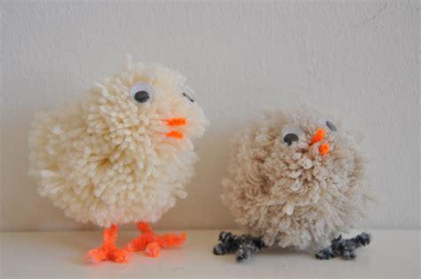stitch  kids diy easter chicks  pom poms