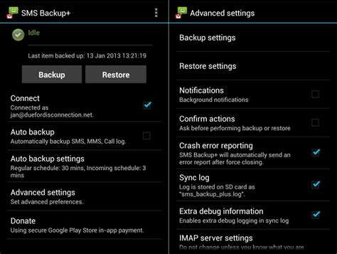 backup messages android how to backup android contacts and text messages sms