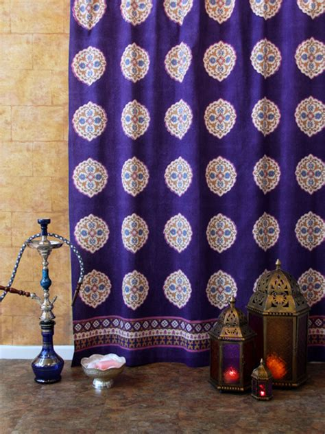 moroccan curtains on bohemian curtains