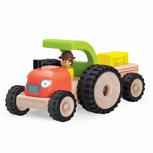 Traktor Mit Hänger : ww 4042 traktor mit h nger wonderworldtoy natural toys ~ Jslefanu.com Haus und Dekorationen