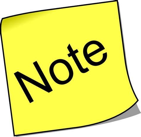 Note Clip Art At Vector Clip Art Online