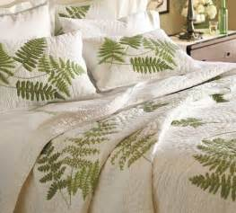 Pottery Barn Ceiling Fans With Lights by Fern Embroidered Organic Quilt And Sham Contemporary