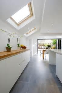 galley kitchen extension ideas islington side extension kitchen extension terraced house bi fold doors kitchen