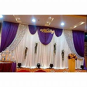 Amazon com: LB Wedding Stage Decorations Backdrop Party