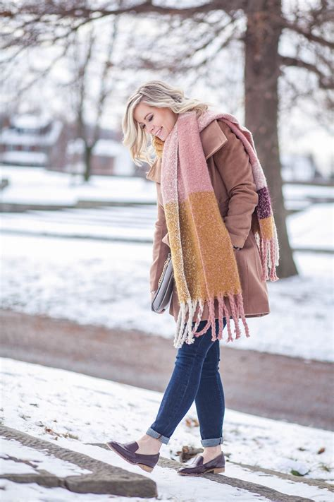 Bundled Up In Cozy Coats and Oversized Scarves