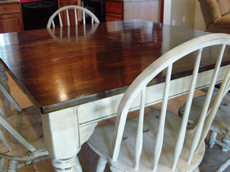 remodelaholic kitchen table refinished  distressed