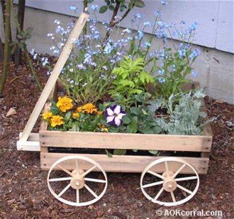 build wooden wagon planter plans  plans