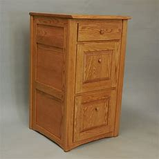 Country Trend Style Solid Oak 3 Drawer Filing Cabinet