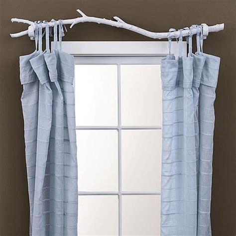 diy tree branch curtain rod popsugar home