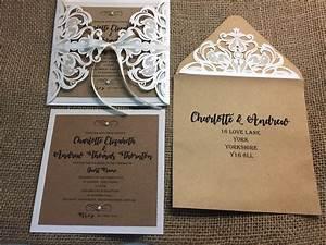 lace laser cut wedding invitation different wedding With september wedding invitations ideas