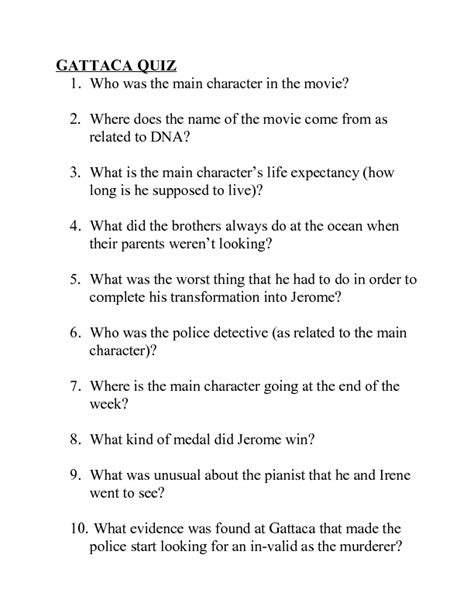 Gattaca Worksheet Answers Worksheets Ratchasima Printable Worksheets And Kids Activities