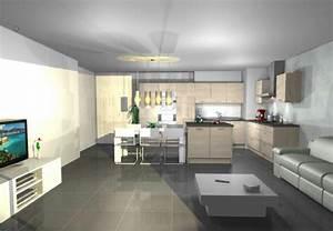 Aménager Un Salon Carré : aide am nager salon cuisine carr ~ Melissatoandfro.com Idées de Décoration