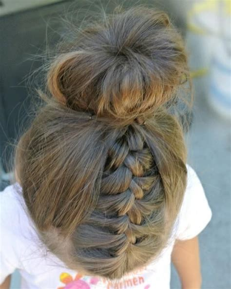 40 cool hairstyles for little girls on any occasion bun