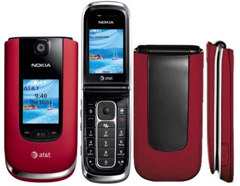 nokia  red bluetooth camera phone  att wireless
