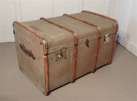Large Bedroom Trunk by Antiques Atlas A Large Vintage Canvas Steamer Trunk