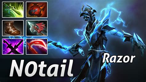 razor pro build carry dota 2 pro gameplay by notail youtube