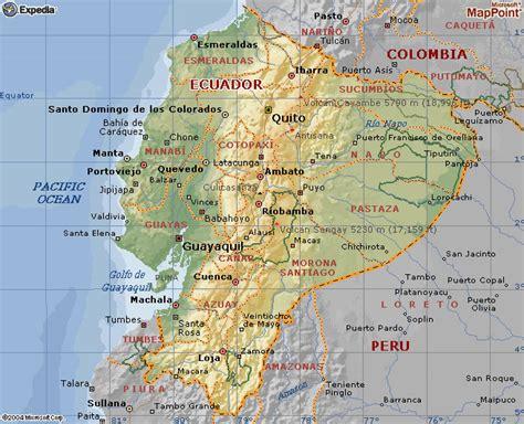 Mapas de Ecuador: Mapa geográfico del ecuador