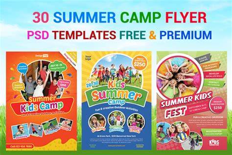 summer flyer templates free 30 summer camp flyer psd templates free premium designyep