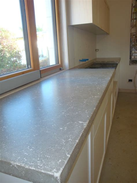 pressed concrete laundry bench top flowing stone