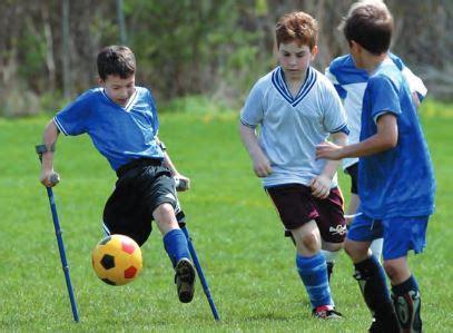adaptive soccer     team sport amputee