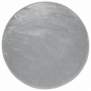 tapis rond velours uni gris eminza With tapis velours gris