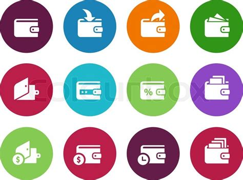 Wallet Circle Icons On White Background. Wallet With Cash Icon. Vector Illustration. World S Largest Chest Of Drawers Location Six Drawer Double Dresser Tall Narrow White Nursery Liners Unscented Hidden Furniture Plans Epson Opos Cash Setup Sterilite 6 Storage Cart Solid Wood Captain Bed With