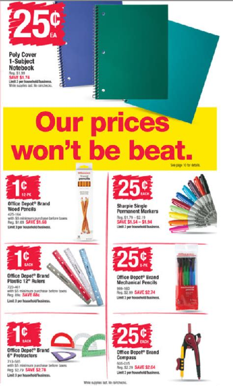 Office Depot Coupons July 2015 by Office Depot Office Max And Staples Back To School Deals