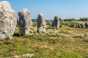 Prehistoric Megaliths IN Carnac Stock Photos