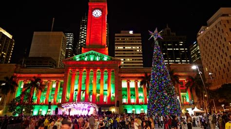 christmas tree sparkles in the heart of the city choose