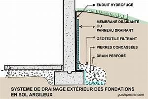 drains inondation le drainage efficace des fondations With marvelous creer plan de maison 4 quelle type de charpente